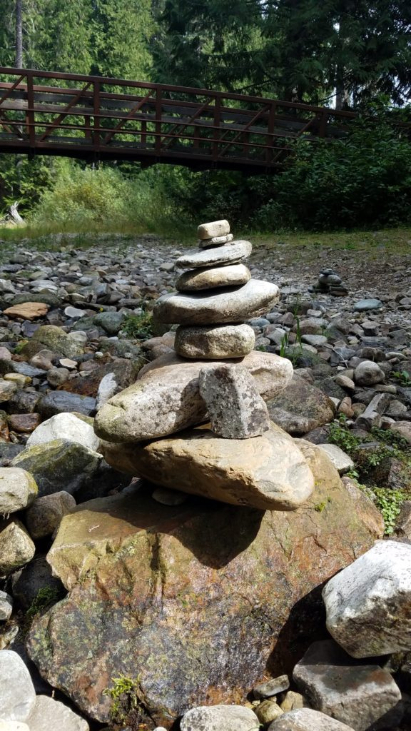 Stacked rocks at Ross Creek